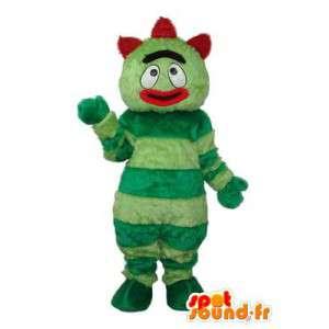 Groene karakter mascotte pluche rode kuif  - MASFR003691 - Niet-ingedeelde Mascottes