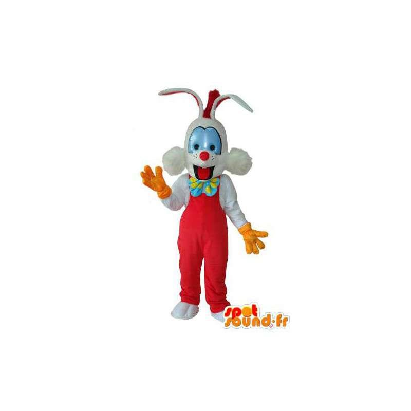 Rojo de la mascota y el conejo blanco - Disfraces de Conejo - MASFR003692 - Mascota de conejo