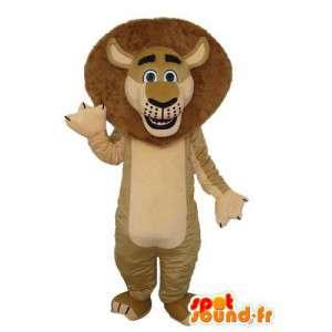 Brown lion mascot - plush lion costume - MASFR003693 - Lion mascots