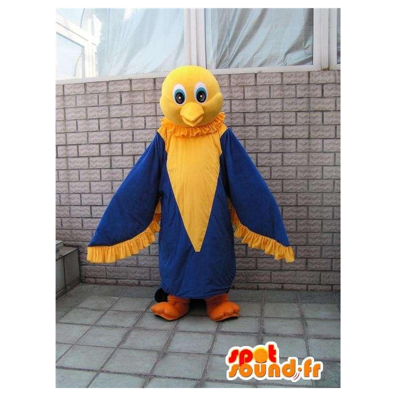 Maskotti keltainen ja sininen hauskaa Eagle - Canary Costume - MASFR00289 - maskotti lintuja