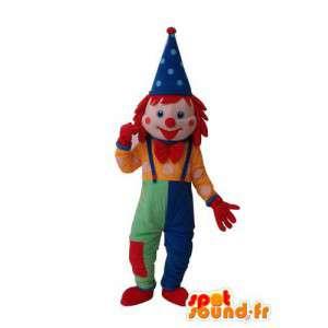 Veelkleurige circus mascotte - karakter circus kostuum