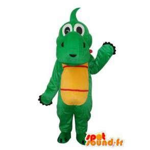 Mascot - Hippopotamus green yellow red - Costume hippo - MASFR003702 - Mascots hippopotamus