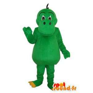 Mascotte d'hippopotame vert uni - Costume d'hippopotame