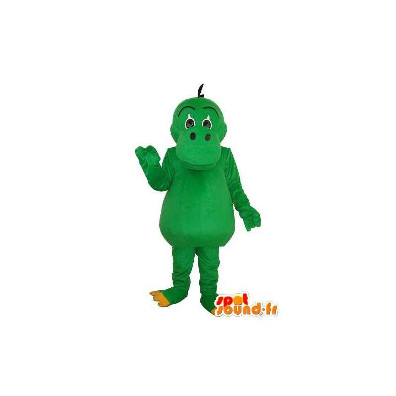 Mascot - Plain green hippo - hippo costume - MASFR003704 - Mascots hippopotamus