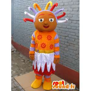 Mascotte princesse afro - Costume de princesse africaine rasta