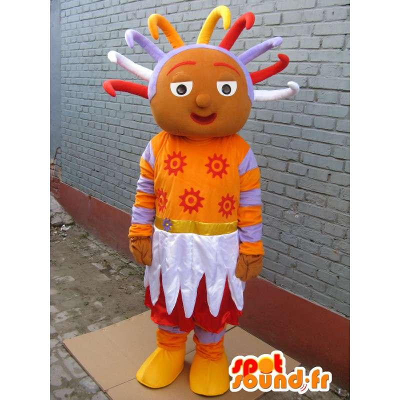 Mascotte princesse afro - Costume de princesse africaine rasta - MASFR00290 - Mascottes Fée