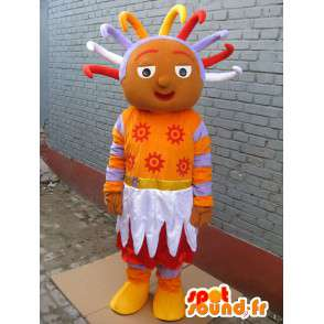 Mascot afrikanischen Prinzessin - Prinzessin Kostüm afrikanischen rasta - MASFR00290 - Maskottchen-Fee