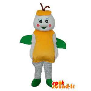 Traje hormiga amarilla y verde blanco - la mascota de la hormiga