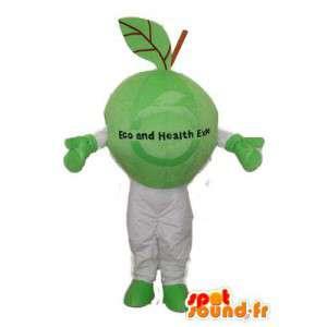 Verkleidung von grünen und weißen Pflanze - Pflanzen Maskottchen - MASFR003717 - Maskottchen der Pflanzen