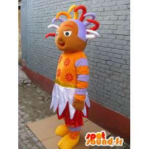 Mascot principessa africana - Principessa Costume africano rasta - MASFR00290 - Fata mascotte