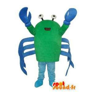 Langosta azul mascota de felpa verde - traje de langosta