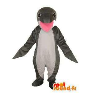 Mustavalkoinen delfiini maskotti - delfiini puku