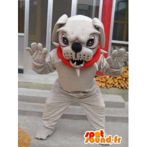 Mascot dog boulldog - costume ball with dog accessories - MASFR00246 - Dog mascots