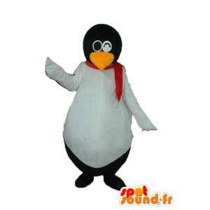 Mascotte de pingouin blanc noir - déguisement de pingouin