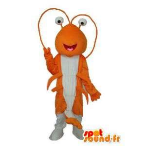 Oranssi ja valkoinen muurahainen maskotti - muurahainen valepuvussa