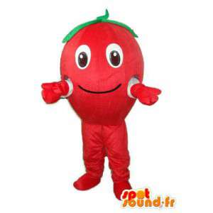 Mascot red tomato with green leaf - tomato disguise - MASFR003734 - Fruit mascot