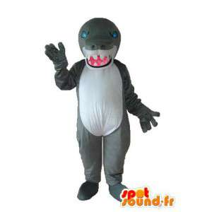 Maskot šedá krokodýla - šedá krokodýlí kostým