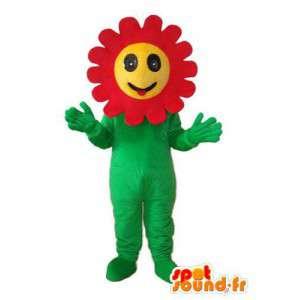 Pflanzenmaskottchenkopf Reptil gelben und roten Sonnenblumen - MASFR003737 - Maskottchen der Pflanzen