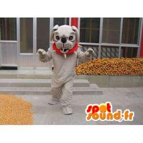 Mascotte chien boulldog - Déguisement boule dog avec accessoires - MASFR00246 - Mascottes de chien