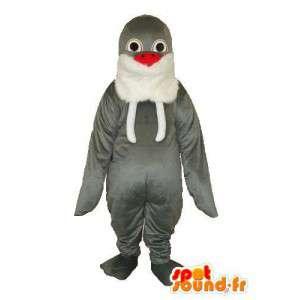 ホワイトグレーのペンギンのマスコット-ホワイトグレーのペンギンのコスチューム-MASFR003739-ペンギンのマスコット