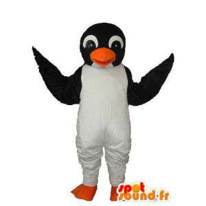 Mascot penguin white black - white black penguin costume