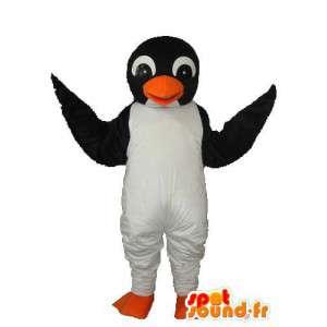 Mascotte de pingouin blanc noir - Déguisement pingouin blanc noir