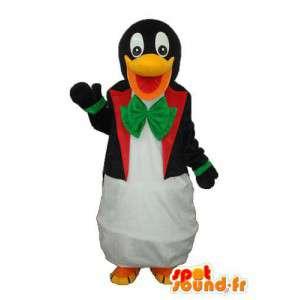 Mascota del pingüino negro blanco - traje de pingüino de peluche