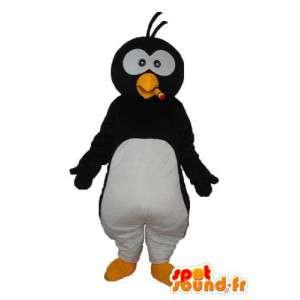 Mascotte de pingouin blanc noir - Déguisement pingouin peluche