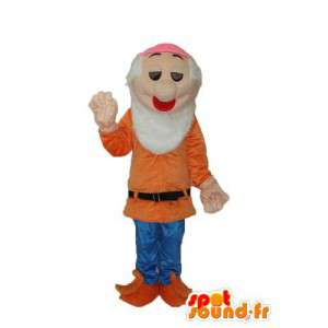 Disguise old man sweater orange - Old man disguise - MASFR003750 - Human mascots