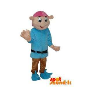 Mascot jongen bruin, blauwe trui - Boy Costume  - MASFR003752 - Mascottes Boys and Girls
