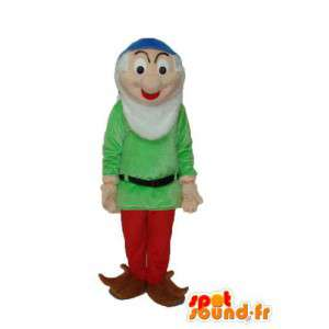 Alter Mann Maskottchen grünen Pullover - Standort & Anreise alten Mann - MASFR003754 - Menschliche Maskottchen
