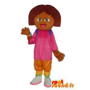 Mascot chica de peluche marrón - traje de la muchacha de la felpa