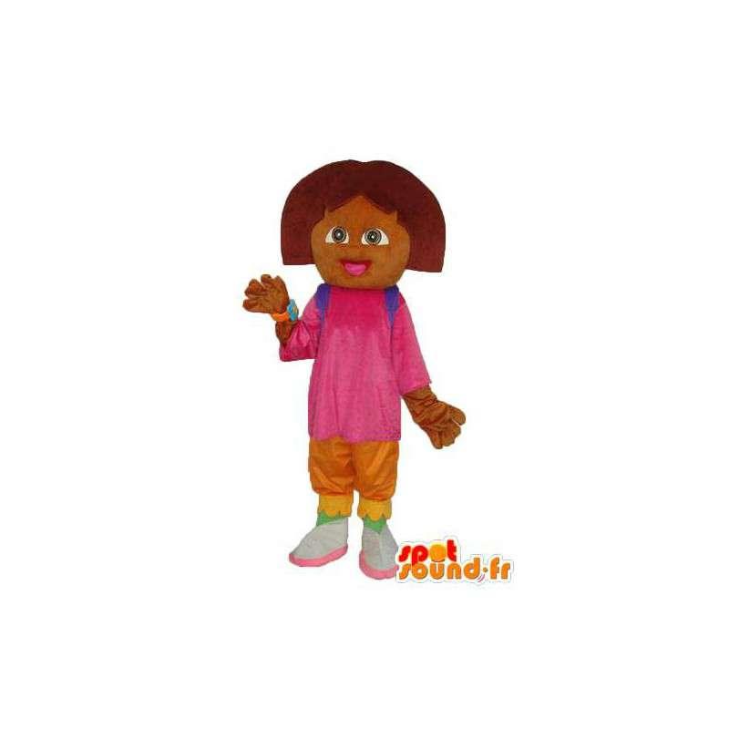 Mascot chica de peluche marrón - traje de la muchacha de la felpa - MASFR003755 - Chicas y chicos de mascotas