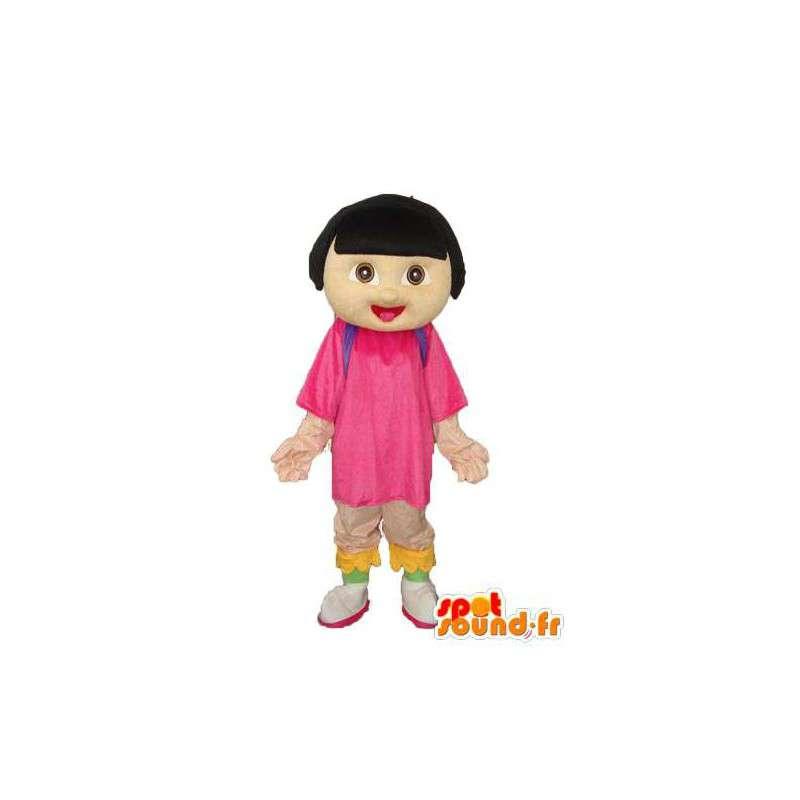 Mascota de la muchacha de la felpa - traje de niña de color beige - MASFR003757 - Chicas y chicos de mascotas