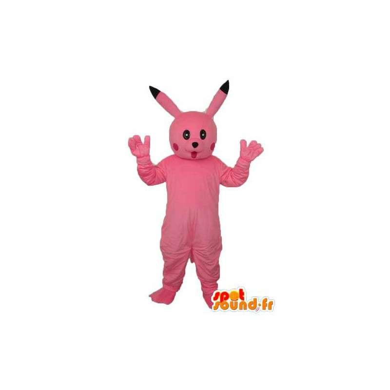 Mascota de conejo rosa de peluche - traje rosado del conejito - MASFR003759 - Mascota de conejo