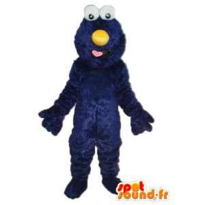 Mascotte en peluche bleu nez rouge – Déguisement peluche bleu - MASFR003761 - Mascottes 1 rue sesame Elmo