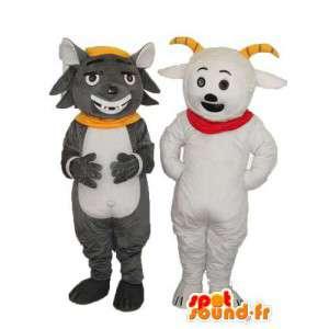 Doble la mascota del ratón gris oso polar - oso traje de ratón - MASFR003764 - Oso mascota