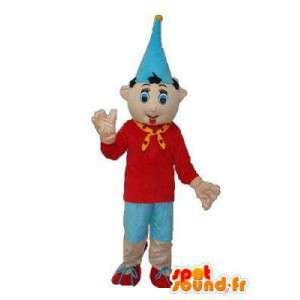 Μασκότ Πινόκιο με μυτερό καπέλο - μεταμφίεση Πινόκιο
