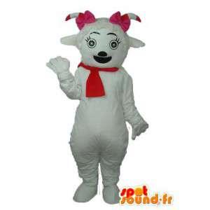 Maskottchen Plüschhund mit rotem Schal - Disguise Hündin - MASFR003767 - Hund-Maskottchen