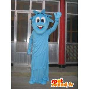 Estátua da mascote do azul Liberdade - noite traje New York