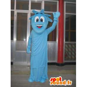 Mascot blue statue of liberty - Costume party New York - MASFR00293 - Mascots of objects
