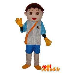 Maskotti poika paita ja siniset liivi - Boy Puku  - MASFR003768 - Maskotteja Boys and Girls