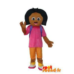 Brown girl mascot - Costume character