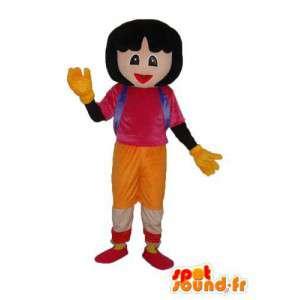 Meisje mascotte schoolmeisje - schoolmeisje kostuum