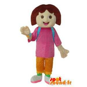 Mascot koulutyttö - koulutyttö puku teddy  - MASFR003773 - Maskotteja Boys and Girls