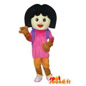 Mascotte small girl with backpack - Schoolgirl costume - MASFR003774 - Mascots boys and girls