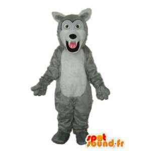 Maskottchen-grau-weißen Hund - Hundekostüm - MASFR003777 - Hund-Maskottchen