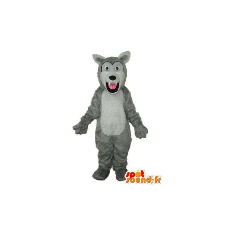 Mascot dog gray and white - dog costume - MASFR003777 - Dog mascots