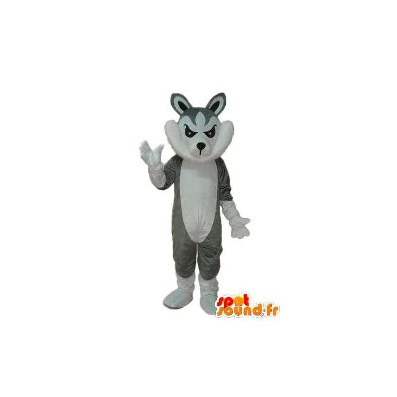 Mascotte de chat gris et blanc – déguisement de chat - MASFR003778 - Mascottes de chat