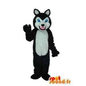 Plys grå hundemaskot - grå hundedragt - Spotsound maskot
